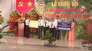 Cái Bè ra mắt xã nông thôn mới Hòa Hưng
