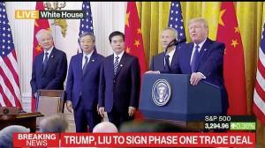 Mỹ – Trung Quốc ký thỏa thuận thương mại giai đoạn 1