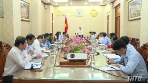 Tiền Giang họp tổ thẩm định văn kiện Đại hội Đảng cấp huyện và tương đương
