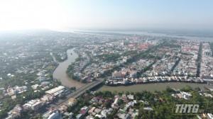 Tiền Giang tổ chức đắp đập thép trên sông Bảo Định