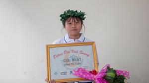 Nữ sinh THPT Phú Tân về nhất tuần bằng điểm số ở những phút cuối cuộc thi