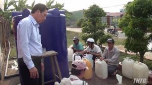Gò Gông Đông lắp đặt 51 vòi nước công cộng phục vụ nhân dân