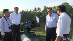 Ông Lê Văn Nghĩa kiểm tra tình hình cung cấp nước sản xuất tại Thị xã Gò Công