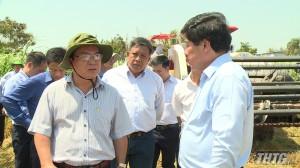 Thứ trưởng Bộ NN&PTNT khảo sát tình hình sản xuất huyện Gò Công Tây