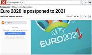 """Truyền thông thế giới """"sốt"""" vì EURO lẫn Copa America 2020 cùng bị hoãn"""