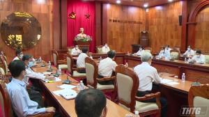 Lãnh đạo UBND tỉnh làm việc về công tác triển khai đầu tư công tại các huyện, thị phía Tây