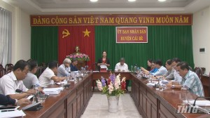 HĐND tỉnh Tiền Giang giám sát đề án tái cơ cấu ngành nông nghiệp của huyện Cái Bè