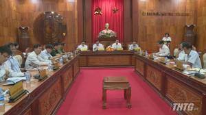 UBND tỉnh Tiền Giang họp thành viên đánh giá tình hình kinh tế – xã hội tháng 5/2020