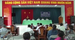 Chủ tịch UBND tỉnh Tiền Giang tiếp xúc cử tri huyện Chợ Gạo