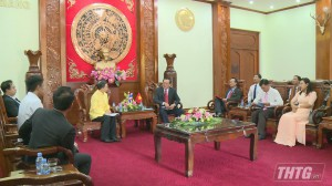 Lãnh đạo UBND tỉnh Tiền Giang tiếp Tổng lãnh sự Thái Lan