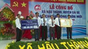 Xã Hậu Thành, huyện Cái Bè ra mắt xã nông thôn mới