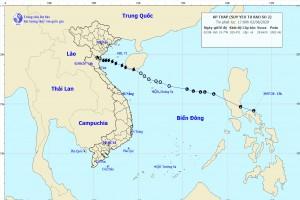 Bão số 2 suy yếu thành áp thấp nhiệt đới, gây mưa lớn các tỉnh từ thanh  Hóa đến Quảng Trị
