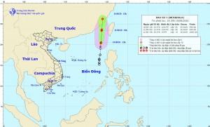 Áp thấp nhiệt đới đã mạnh lên thành bão, có tên quốc tế là Mekkhala