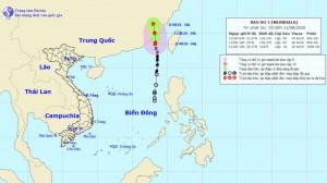 Bão số 3 sẽ vào Trung Quốc và suy yếu thành áp thấp nhiệt đới