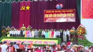 Bế mạc Đại hội Đảng bộ huyện Tân Phước lần thứ VI, nhiệm kỳ 2020 -2025