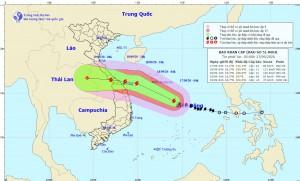 Bão số 5 gây mưa 400mm ở miền Trung, sơ tán 1,2 triệu người