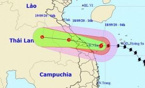 Bão số 5 tăng tốc, đổ bộ vào khu vực Quảng Bình – Quảng Nam gây mưa rất to