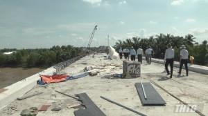 Cầu Bình Xuân bắt qua sông Gò Công đã hoàn thành hơn 92% khối lượng thi công