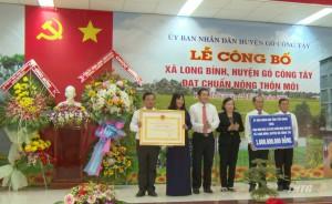 Xã Long Bình, huyện Gò Công Tây ra mắt xã Nông thôn mới