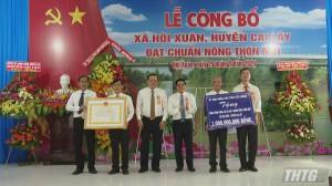 Cai Lậy ra mắt xã nông thôn mới Hội Xuân