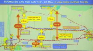 Đề xuất xây dựng cao tốc Cần Thơ – Cà Mau song song với quốc lộ Quản Lộ – Phụng Hiệp