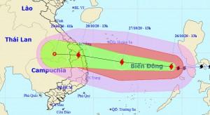 Bão số 9 tiếp tục mạnh lên, tiến gần bờ biển từ Đà Nẵng đến Phú Yên