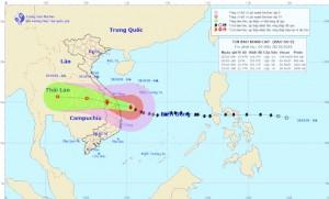 Bão số 9 mạnh cấp 13, giật cấp 16 đang lao 25km/ giờ vào Đà Nẵng – Phú Yên