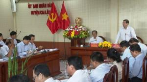Chủ tịch UBND tỉnh Tiền Giang làm việc UBND huyện Cai Lậy về phát triển kinh tế xã hội và đầu tư công