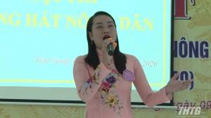 """Đơn vị huyện Tân Phú Đông đạt giải Nhất """"Tiếng hát Nông dân năm 2020"""""""