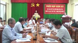 HĐND huyện Châu Thành giám sát kết quả giải quyết kiến nghị của cử tri trước và sau kỳ họp thứ 11
