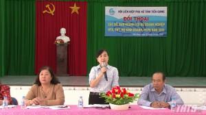 Đối thoại giữa các sở ngành tỉnh Tiền Giang với hội viên Phụ nữ về khởi nghiệp