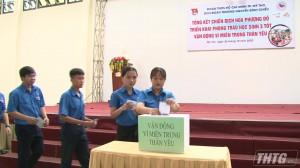 Trường THPT Nguyễn Đình Chiểu quyên góp ủng hộ đồng bào miền Trung