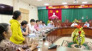 Bí thư Tỉnh uỷ Tiền Giang tiếp và giải quyết khiếu nại của công dân