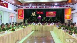 Bộ trưởng Bộ Công an thăm và làm việc với Công an tỉnh Tiền Giang