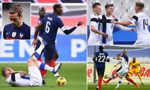 """Pháp 0-2 Phần Lan: Nhà vô địch World Cup nhận cái kết """"đắng lòng"""""""