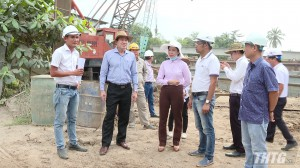 Chủ tịch UBND tỉnh Tiền Giang kiểm tra tiến độ cao tốc Trung Lương – Mỹ Thuận