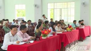 Đoàn Đại biểu Quốc hội tỉnh Tiền Giang tiếp xúc cử tri sau kỳ họp