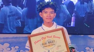 Nam sinh THPT Nguyễn Văn Côn có chiến thắng thuyết phục ở cuộc thi tuần Đường đến vinh quang