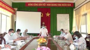 Lãnh đạo tỉnh kiểm tra công tác phòng chống dịch Covid-19 tại huyện Châu Thành
