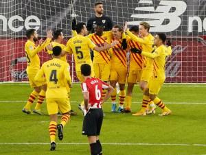 Messi lập cú đúp trước Bilbao, Barca áp sát 2 kình địch Madrid