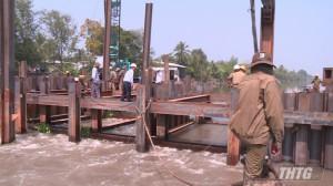 Đập ngăn mặn trên Kênh Nguyễn Tấn Thành sẽ được thi công từ ngày 28/01/2021
