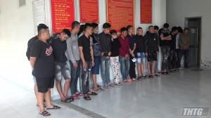 Công an Tiền Giang phát hiện 18 đối tượng sử dụng ma tuý trong quán karaoke Thu Ngân