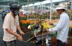Rộn ràng chợ hoa xuân Mỹ Tho Tết Tân Sửu 2021