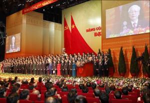 Toàn cảnh phiên bế mạc Đại hội đại biểu toàn quốc lần thứ XIII của Đảng