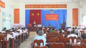 Trưởng Đoàn đại biểu Quốc hội tỉnh Tiền Giang tiếp xúc cử tri huyện Cái Bè