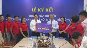 MobiFone Tiền Giang ký kết biên bản thỏa thuận tài trợ 500 suất học bổng cho học sinh nghèo