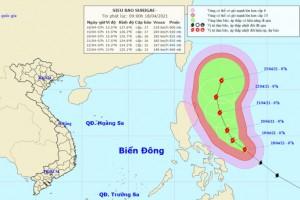 Siêu bão Surigae mạnh cấp 17, yêu cầu các tỉnh sẵn sàng ứng phó