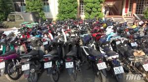 Công an Tiền Giang tạm giữ 110 xe mô tô và 90 thanh thiếu niên tụ tập, đua xe trên Quốc lộ 1