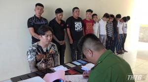 Sử dụng ma tuý trong phòng hát karaoke tại Tân Phú Đông, 11 đối tượng bị tạm giữ