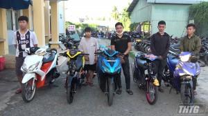 Công an thành phố Mỹ Tho, tỉnh Tiền Giang bắt các đối tượng chuẩn bị đua xe